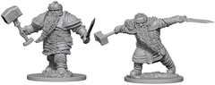 D&D Unpainted Minis - Dwarf Fighter (Male)